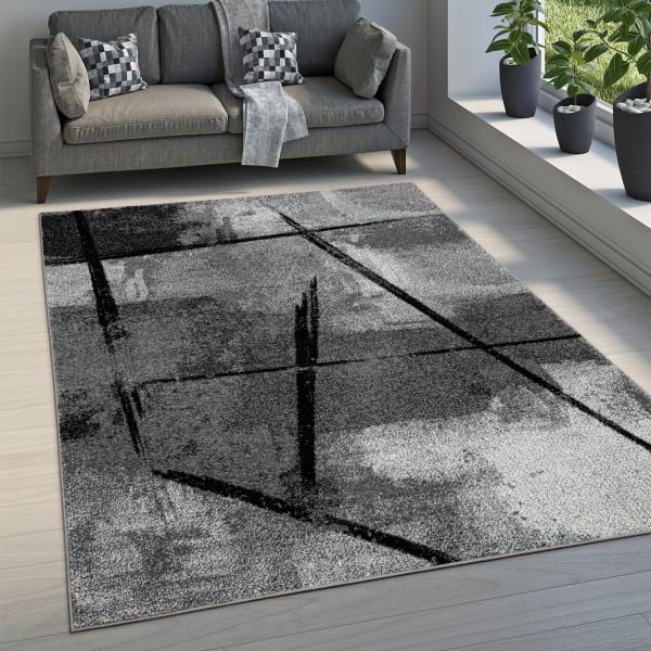 Alfombra Dormitorio Industrial Motivo Abstracto