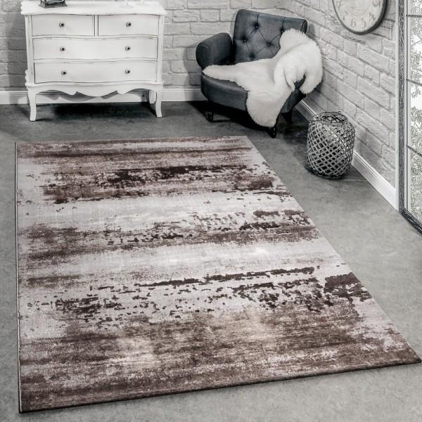Designer Teppich Modern Wohnzimmer Teppich 3D Shabby Chic Design In Grau