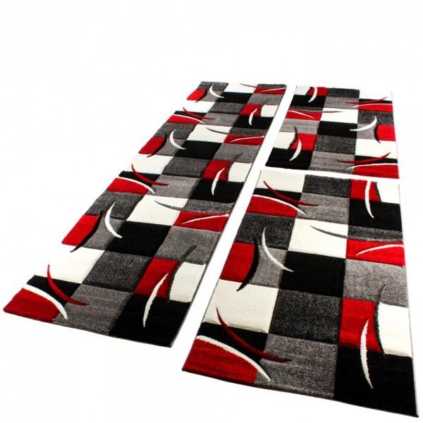 Modernes Teppich Läufer-Set Mit Geometrischem Muster