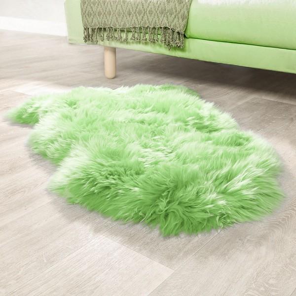 Australisches Lammfell Naturfell Bettvorleger Echtes Schaffell In Apfel Grün