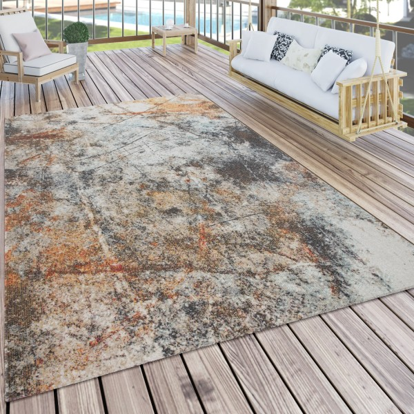Vloerkleed voor binnen en buiten vintage-look balkon terras