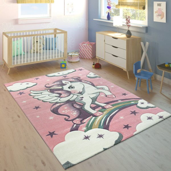 Tappeto per bambini arcobaleno unicorno