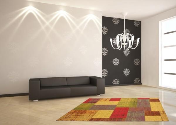 Designer Teppich Modernes Patchwork Vintage Muster Multicolor