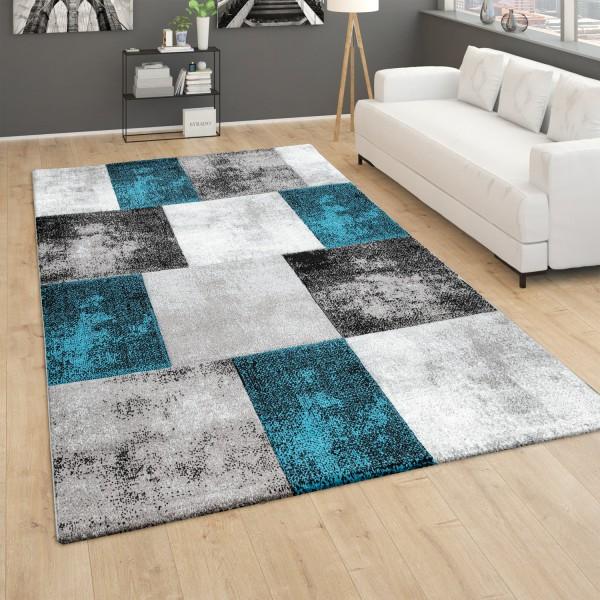 Teppich Wohnzimmer 3D Effekt Rauten Karo Muster