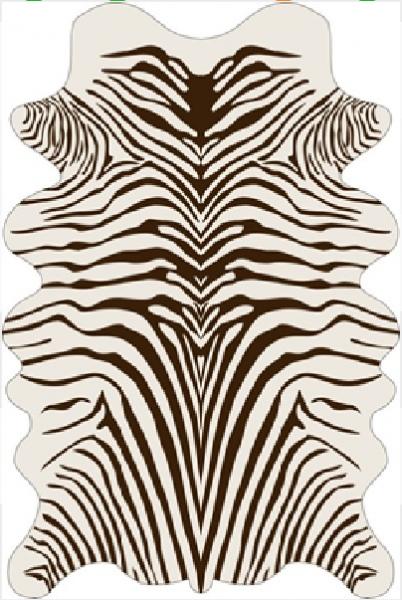 Moderner Teppich Mit Bedrucktem Zebra Muster Trend Design Braun Creme