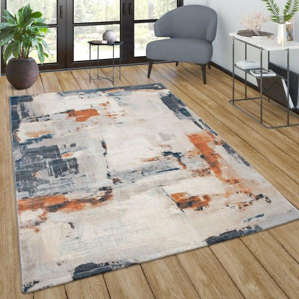 Teppich Wohnzimmer Vintage Muster Farbverlauf