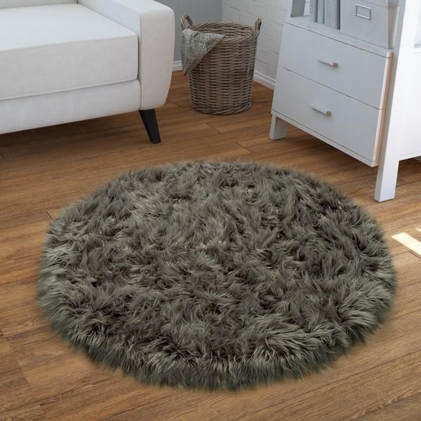 Living Room Rug Fluffy Faux Fur Look