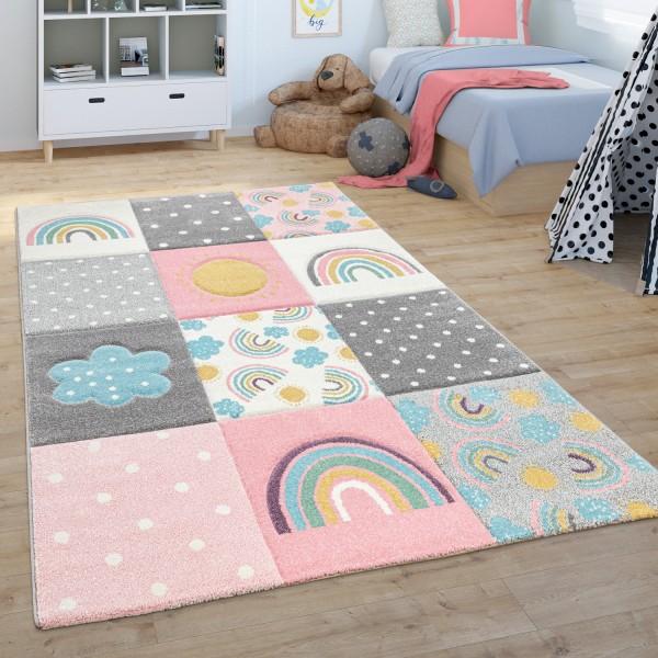 Kinderteppich Kinderzimmer Spielteppich Regenbogen