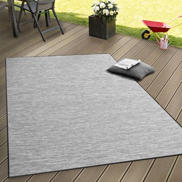In- & Outdoor Flachgewebe Teppich Terrassen Teppiche Mit Farbverlauf In Grau