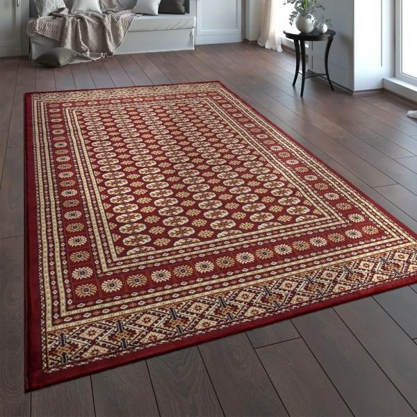 Orientteppich Traditionell Klassische Optik Persisch Ornamente Rot Beige