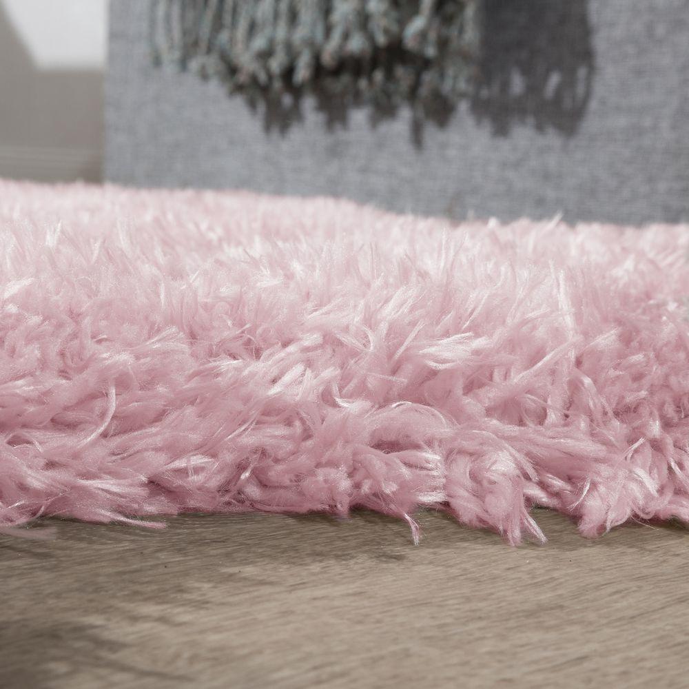 Teppich Shaggy Hochflor Teppich Langflor Teppich Flokati in rosa