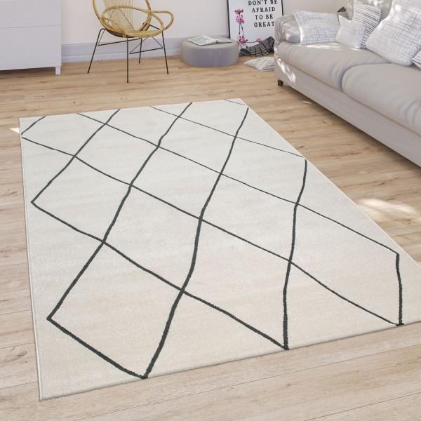 Teppich Wohnzimmer Modernes Rauten Muster