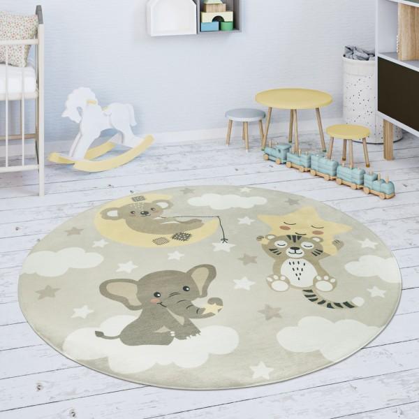 Kinderteppich Teppich Stern Wolke Tiger Elefant