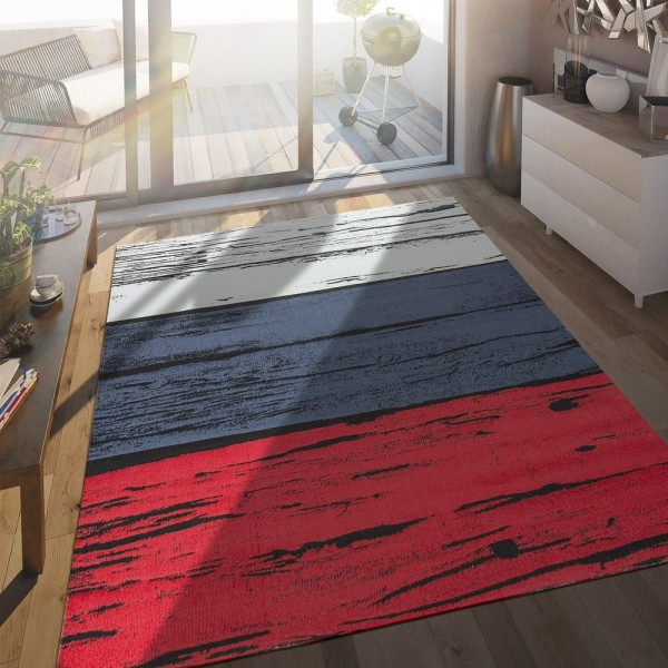 In- & Outdoor Terrassen Teppich Russische Flagge Moderne Beton Optik