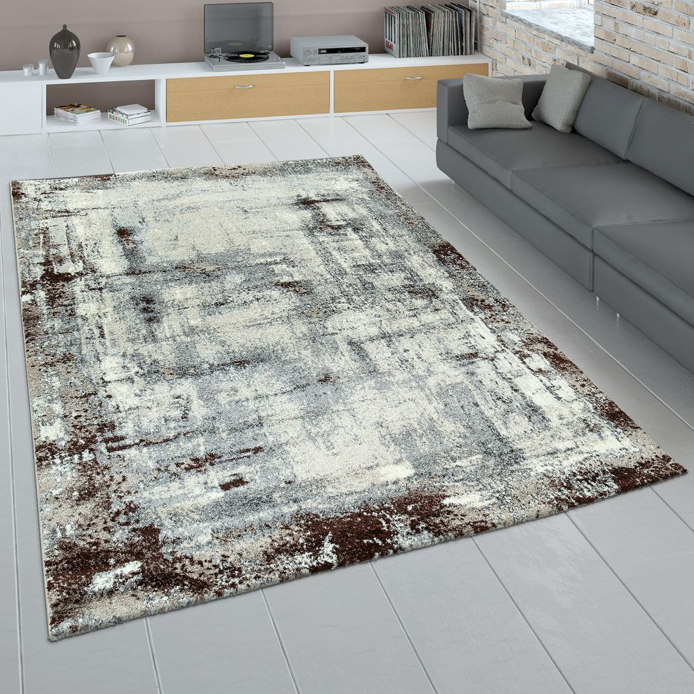 short-pile rug used look