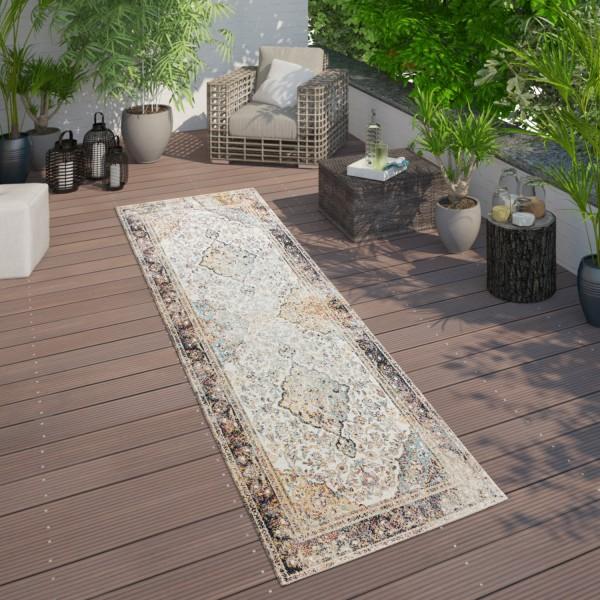Tappeto per interni ed esterni dal look orientale per balcone e terrazza