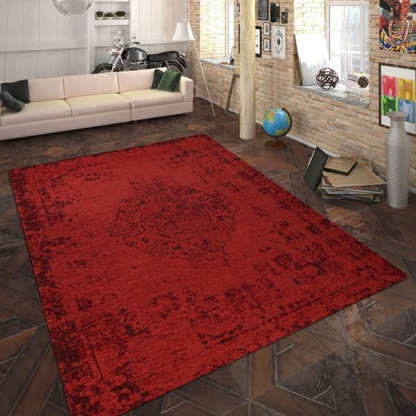 Teppich Flachgewebe Ornamente Rot