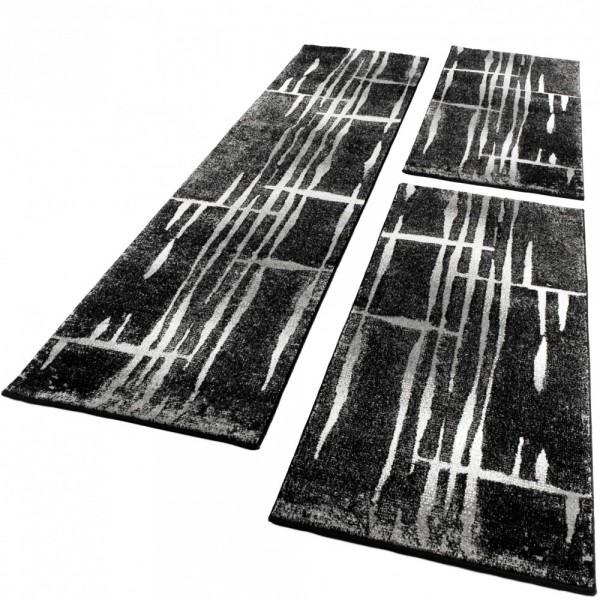 Läuferset Retro Muster Grau