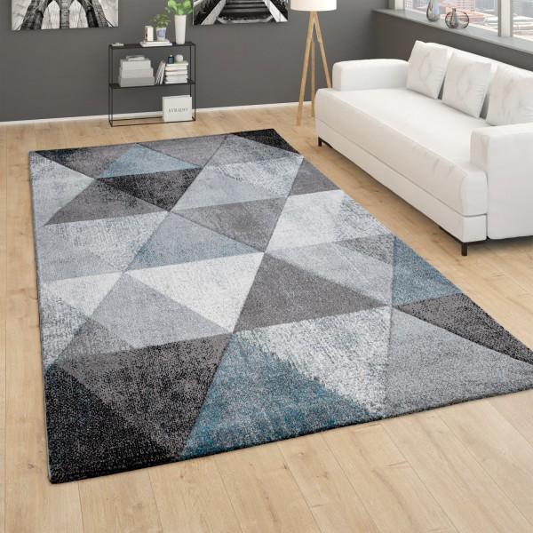 Teppich Wohnzimmer Vintage 3D Effekt Geometrisch