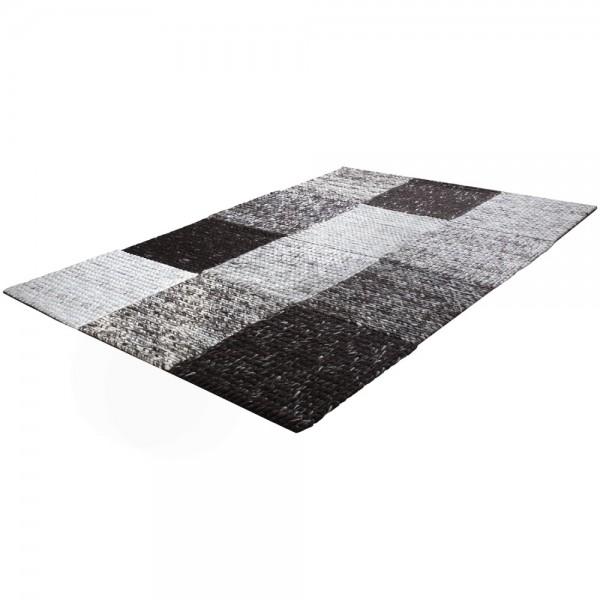Teppich Handgefertigt Hochwertig 100 % Baumwolle Karo Geflochten In Braun Beige