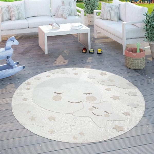 Alfombra Infantil Juegos Cuarto Infantil Redonda Luna
