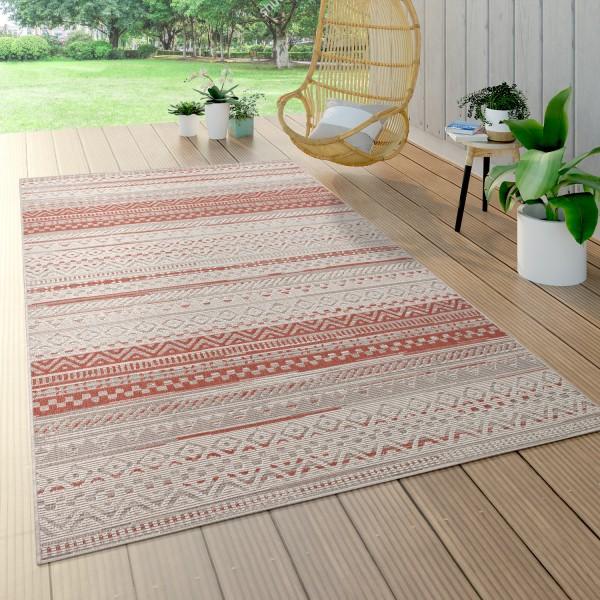 Outdoor Teppich, Geometrisches Muster, Balkon