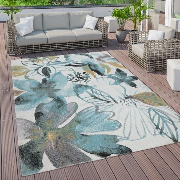 Tappeto per esterni terrazza balcone con motivo a fiori