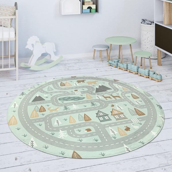 Kinderteppich Teppich Mädchen Jungs Straße