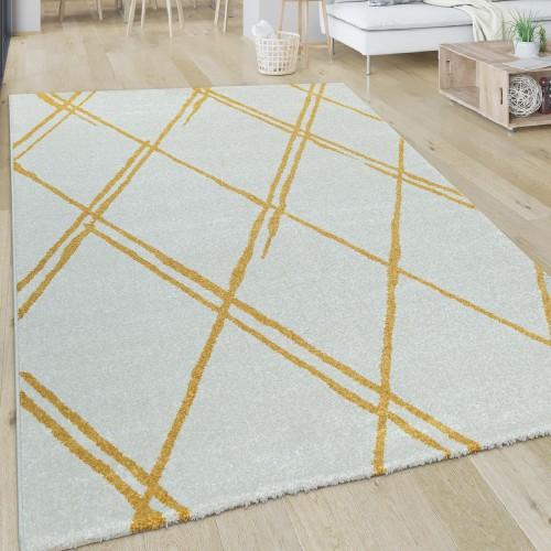 Wohnzimmer-Teppich Kurzflor Im Skandi-Design