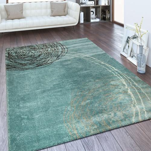 Designer Teppich Abstraktes Design Blau