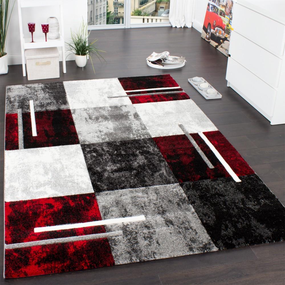Wohnzimmer Teppich Modern 3-D Karo Muster