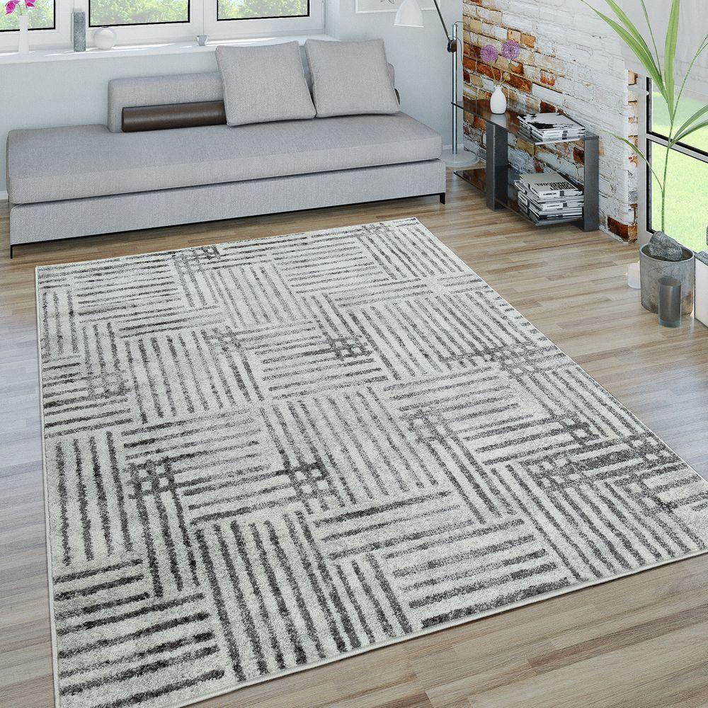 Kurzflor Teppich Wohnzimmer Karo Used Design