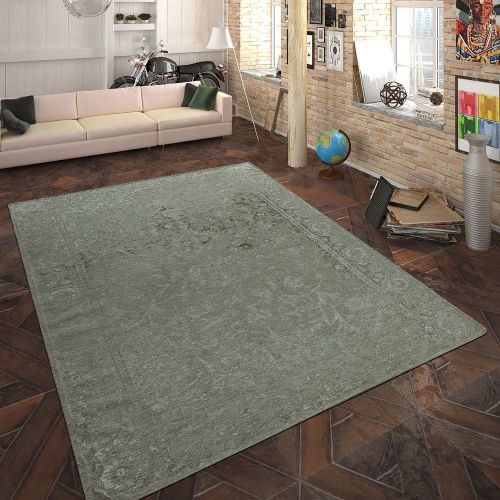 Teppich Flachgewebe Vintage Optik Taupe