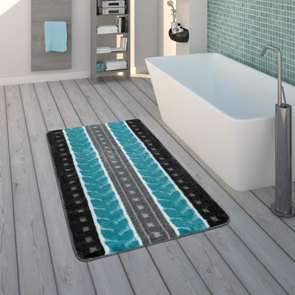 Badematte Kurzflor-Teppich Badezimmer Muster