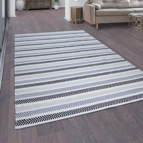Teppich Wohnzimmer Baumwolle Handgewebt Boho Muster