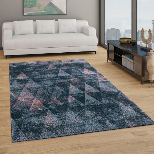 Teppich Wohnzimmer Boho Geometrisches Rauten Muster