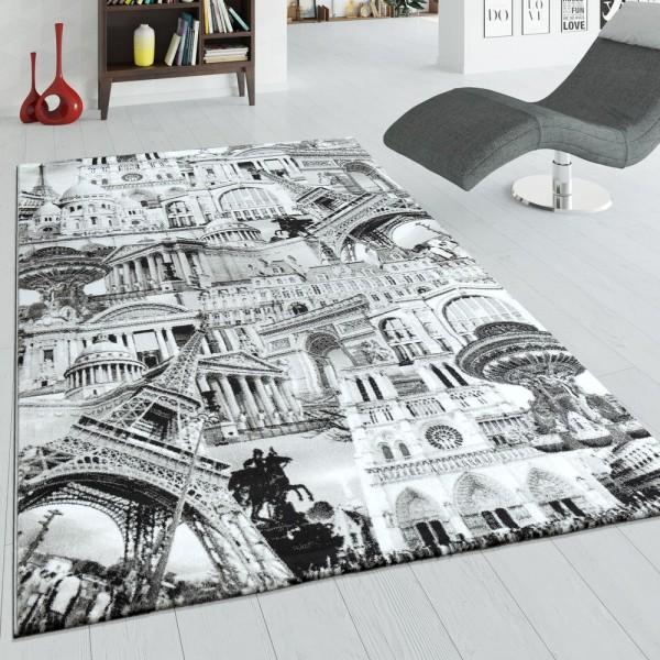 Designer Teppich Paris Grau