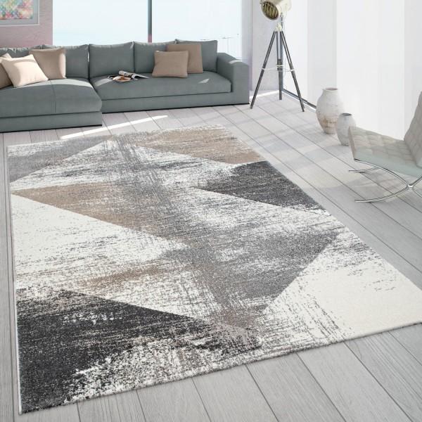 Teppich Pastell Dreieck Muster Vintage Design