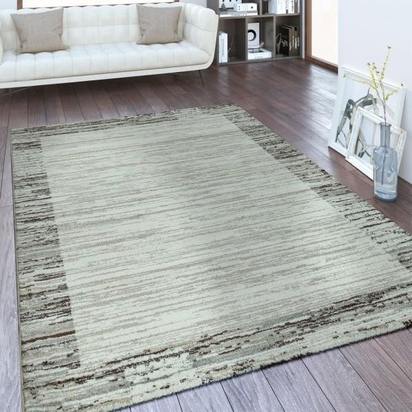 Designer Teppich Bordüre Farbverlauf Beige