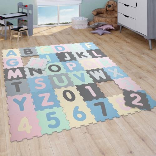 Puzzlematte Schaumstoffmatte Zahlen Buchstaben