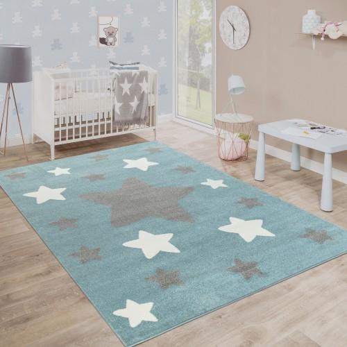Spielteppich Kinderzimmer Sterne Design Robust
