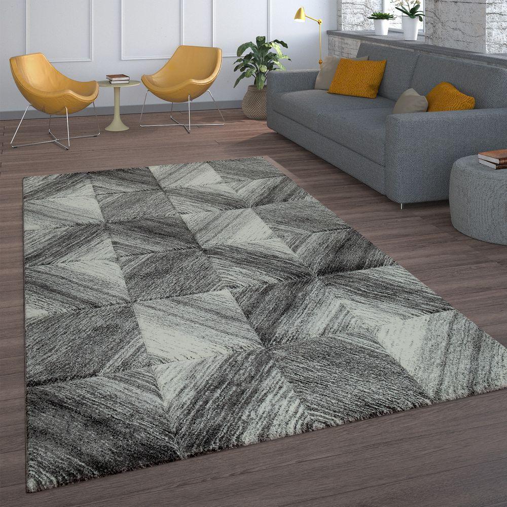 Teppich Wohnzimmer Karo Muster Rauten Design