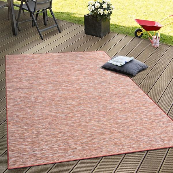 In- & Outdoor Flachgewebe Teppich Terrassen Teppiche Farbverlauf In Terracotta