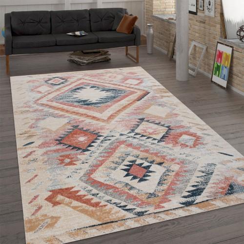 Teppich Ethno-Design Flachgewebe Wohnzimmer