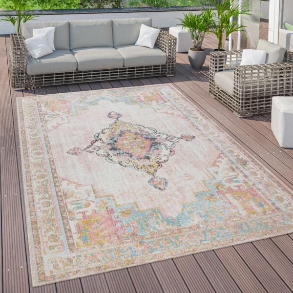 Outdoor Teppich Terrasse Balkon Orientalisches Muster
