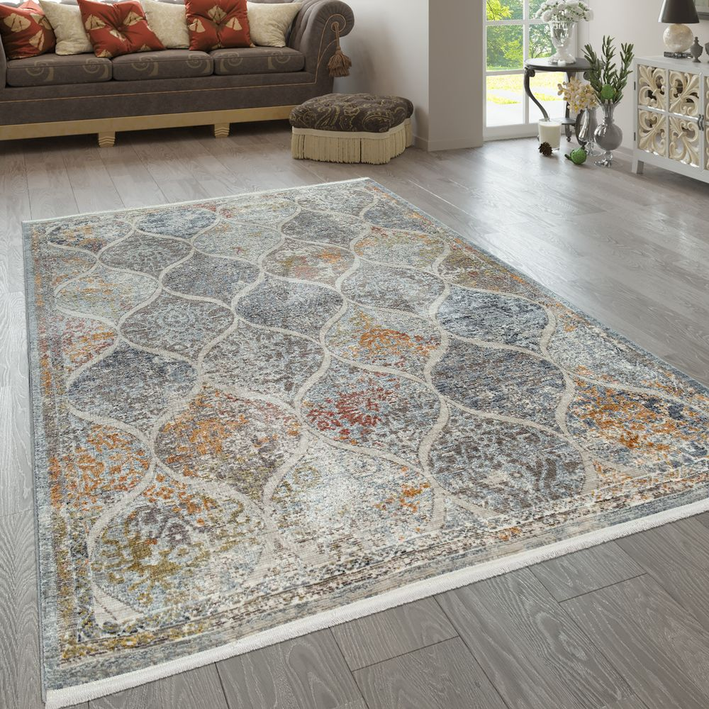 Teppich Wohnzimmer Vintage Muster Orient Teppich De