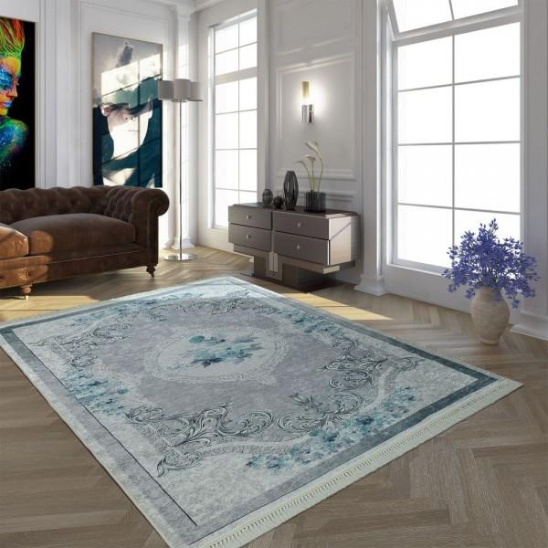 Wohnzimmer Teppich Vintage Muster Kurzflor | teppich.de