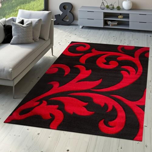 Teppich Wohnzimmerteppich mit Floral Muster