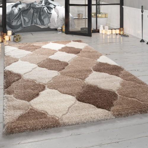 Hochflor-Teppich Wohnzimmer Orient-Look
