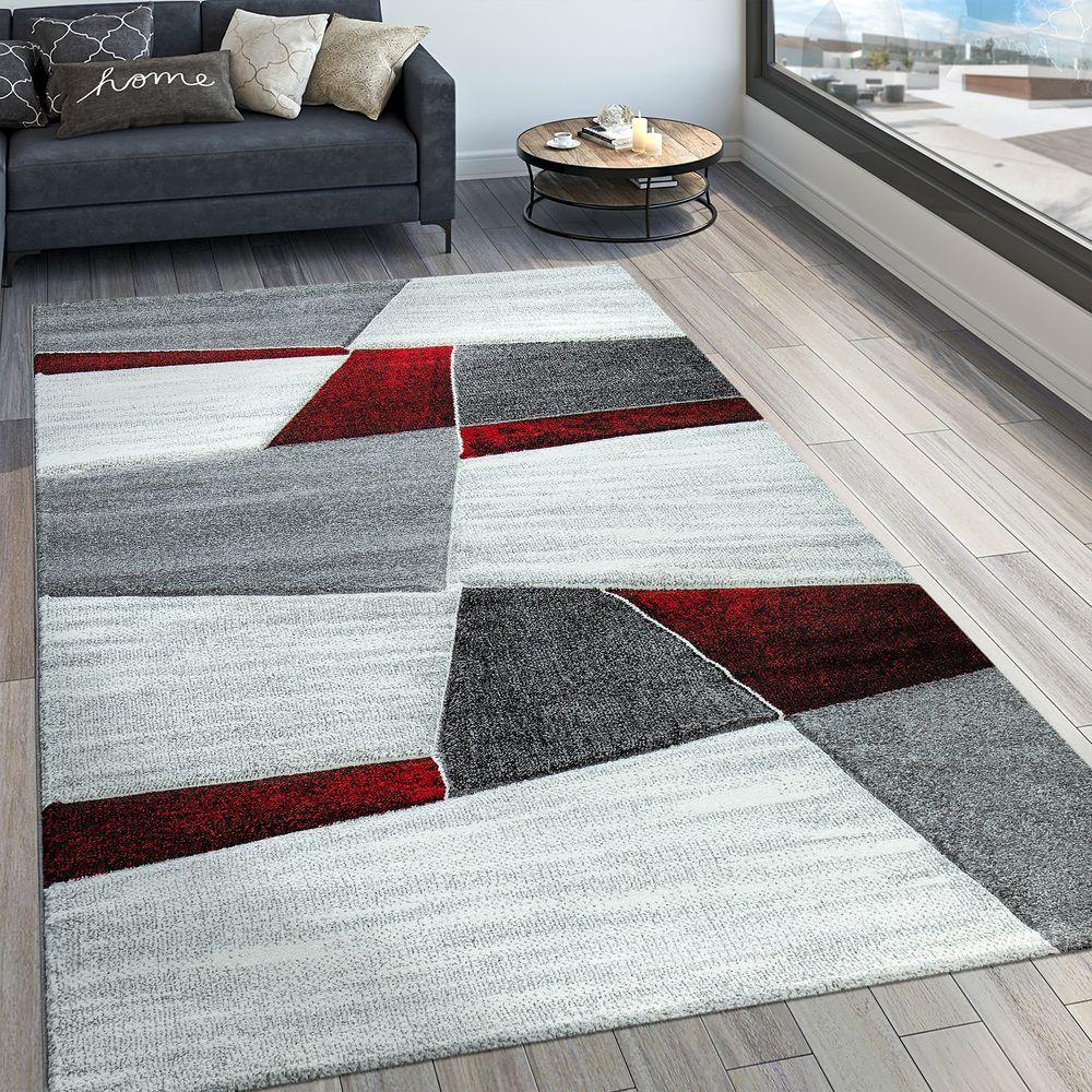 Wohnzimmer Teppich Modern 3-D Muster Kurzflor